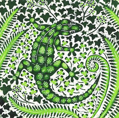 Green Gecko Poster