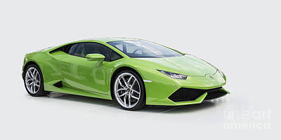 Green Huracan Poster by Roger Lighterness
