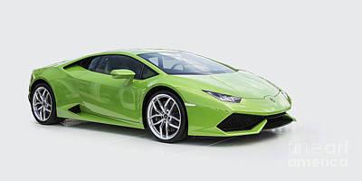 Green Huracan Poster