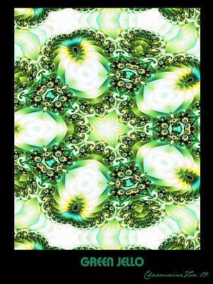 Poster featuring the digital art Green Jello by Charmaine Zoe