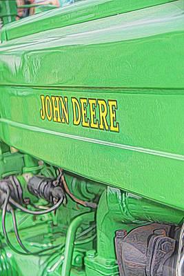 Green John Deere Tractor Poster by Dan Sproul