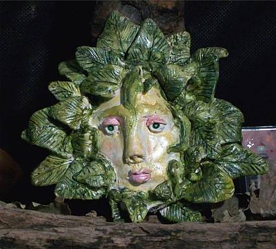 Green Lady Poster by Carolyn Cable