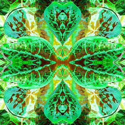Poster featuring the photograph Green Leafmania 3 by Marianne Dow