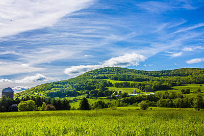 Poster featuring the photograph Green Mountains And Blue Skies Of The Catskills by Paula Porterfield-Izzo
