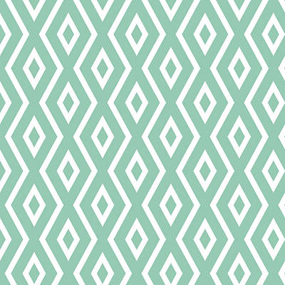 Green Pattern Poster by Christina Rollo