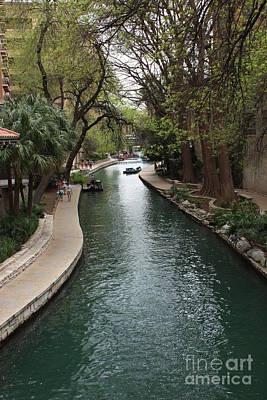 Green San Antonio River Poster by Carol Groenen