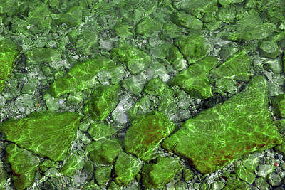Poster featuring the photograph Green Stone Waters by LeeAnn McLaneGoetz McLaneGoetzStudioLLCcom