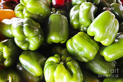 Green Sweet Peppers Poster