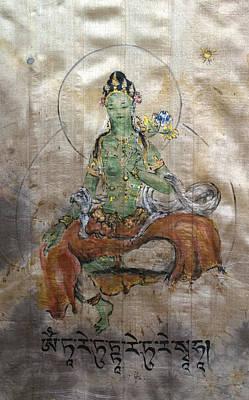 Green Tara  Poster by Silk Alchemy