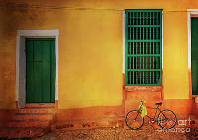 Poster featuring the photograph Green Towel Bicycle by Craig J Satterlee