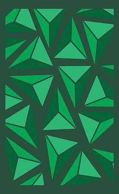 Green Triangle Geo Poster by Cortney Herron