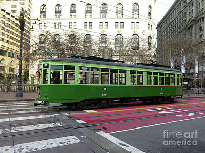 Green Trolley Poster