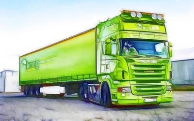 Green Truck Poster