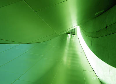 Poster featuring the photograph Green Tunnel. Los Angeles Series. by Ausra Huntington nee Paulauskaite