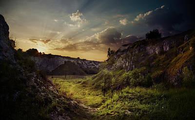 Green Valley At Dawn Poster