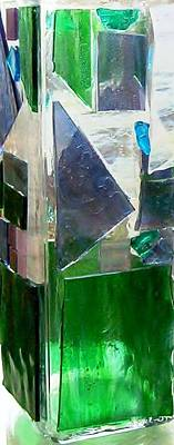 Poster featuring the glass art Green Vase by Jamie Frier