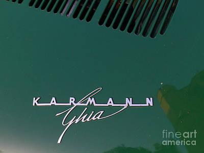 Green Volkswagon Karmann Ghia . 7d10091 Poster