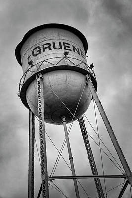 Gruene Water Tower Poster by Stephen Stookey