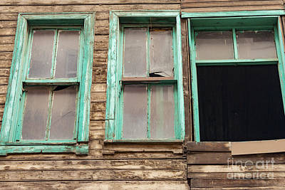 Green Window Frames Poster by Bob Phillips