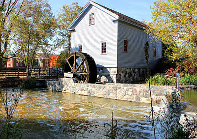 Greenfield Village Stoney Creek Sawmill In Dearborn Michigan Poster by Design Turnpike