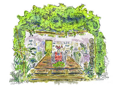 Greenhouse To Volcano Garden Arts Poster