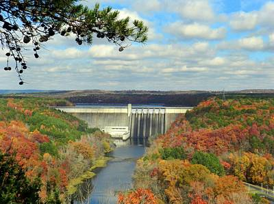 Greers Ferry Dam Poster by Delana Epperson