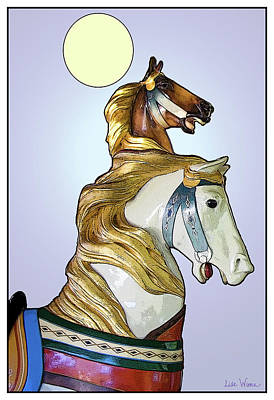 Poster featuring the digital art Greeting The Moon by Lise Winne