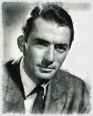 Gregory Peck Hollywood Actor Poster