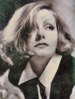 Greta Garbo Vintage Hollywood Actress Poster