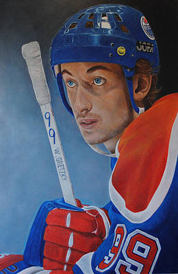 Poster featuring the painting 'gretzky' Wayne Gretzky by David Dunne