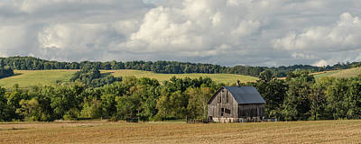 Poster featuring the photograph Grey Barn by Dan Traun