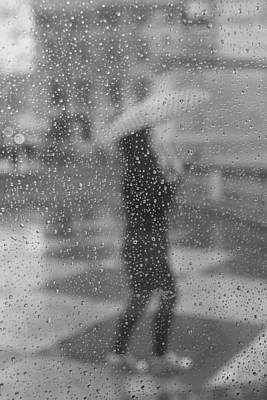 Grey Rain Poster