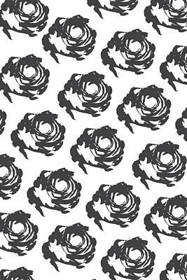 Grey Roses Poster by Cortney Herron