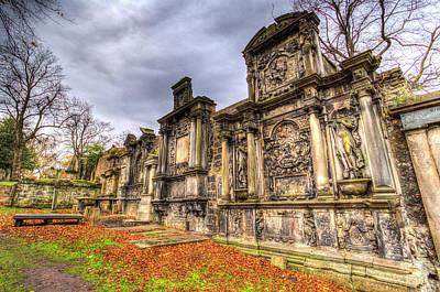 Greyfriars Kirk Cemetery Edinburgh Scotland Poster