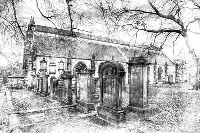 Greyfriars Kirk Church Edinburgh Vintage Poster