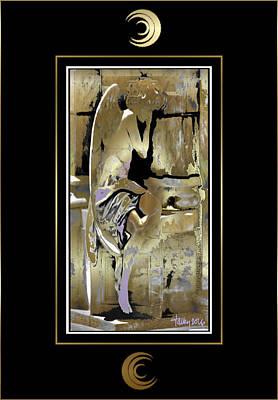 Grief Angel - Black Border Poster