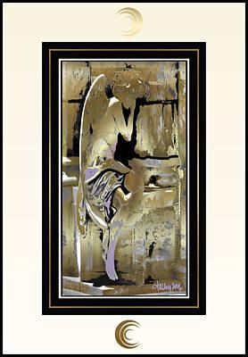 Grief Angel - Light Border Poster