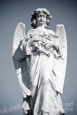 Poster featuring the sculpture Grieving Angel On The Old Graveyard by Yurix Sardinelly