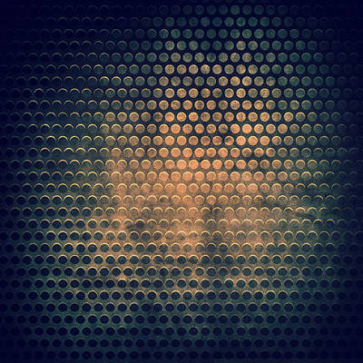 Grill Metal Hole On Grunge Texture Background Poster by Natthawat Jamnapa