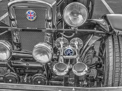 Grill Roadster Jaguar V1 Poster by John Straton