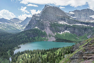 Grinnell Lake From Afar Poster by Alpha Wanderlust