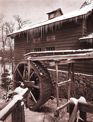Grist Mill At Siver Dollar City Poster