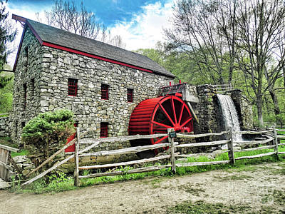 Grist Mill Poster by Bill Dussault