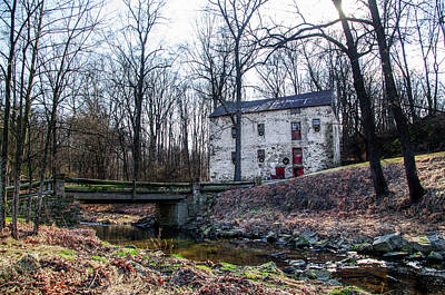 Grist Mill On Yellowsprings Rd Chester County Pa Poster
