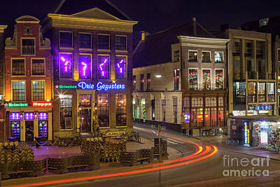 Groningen City By Night Poster