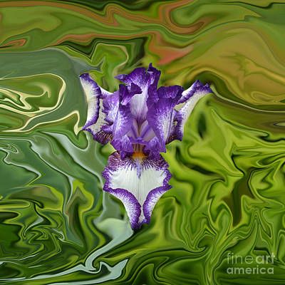 Groovy Purple Iris Poster by Rebecca Margraf