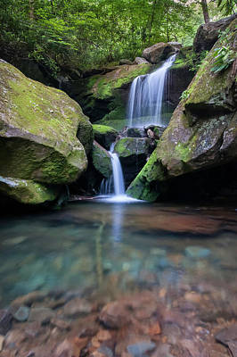 Grotto Falls-the Lower Cascades Poster by Thomas Schoeller