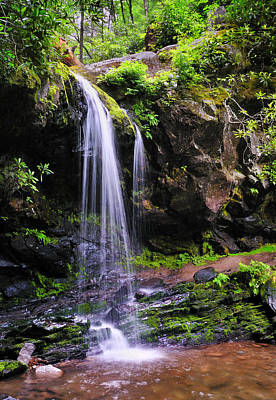 Grotto Falls Poster by Thomas Schoeller
