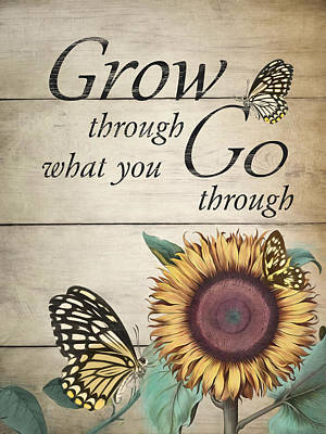 Poster featuring the digital art Grow by Robin-Lee Vieira