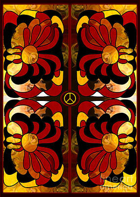 Growing Peaceful Ideas Abstract Bliss Art By Omashte Poster by Omaste Witkowski